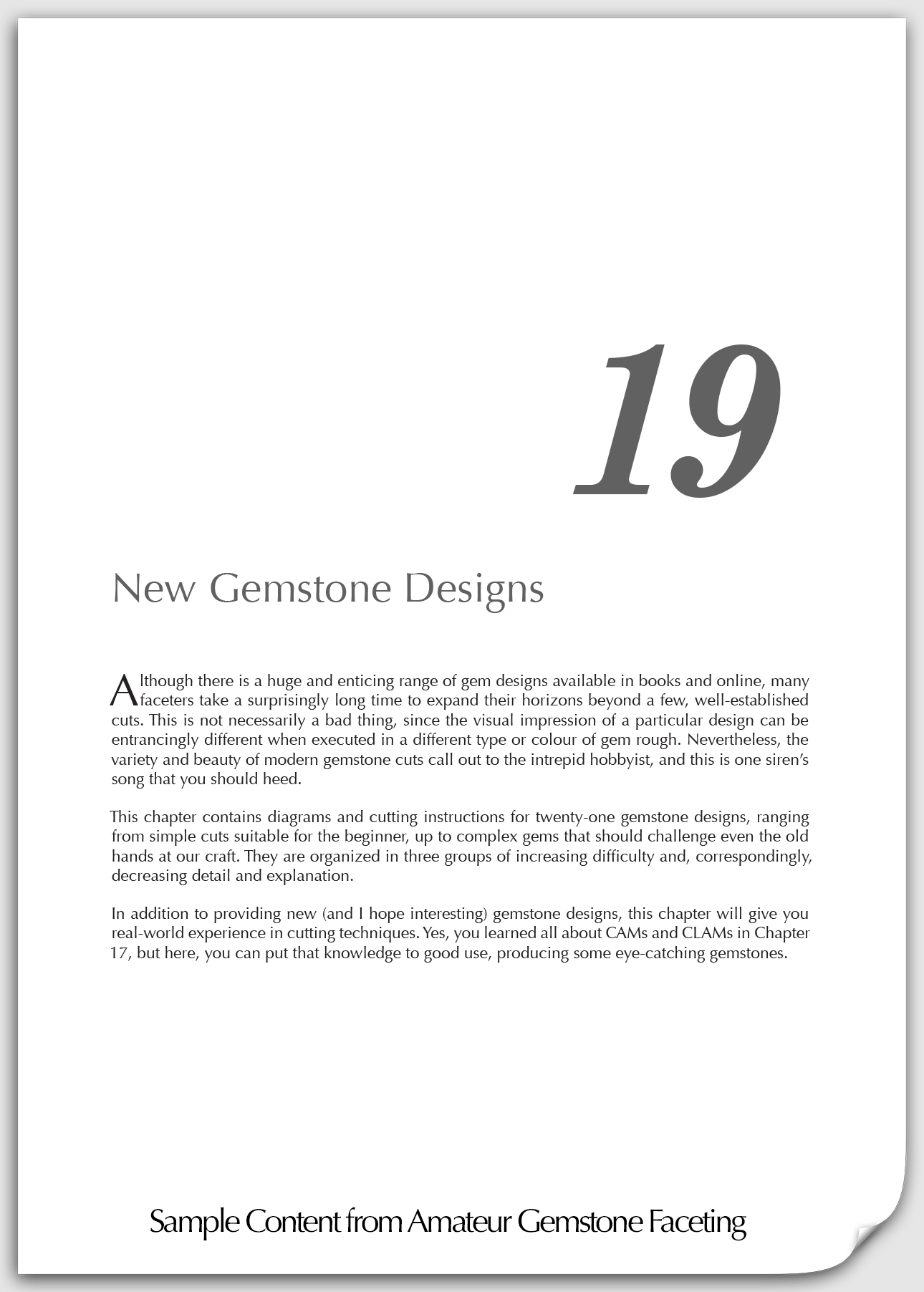 sample content chapter 19 new gemstone designs title page
